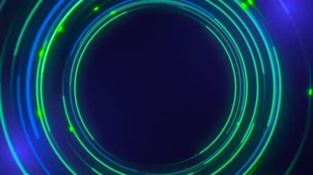 folyamatos : Motion green circles abstract background. Elegant and luxury dynamic neon style for business template