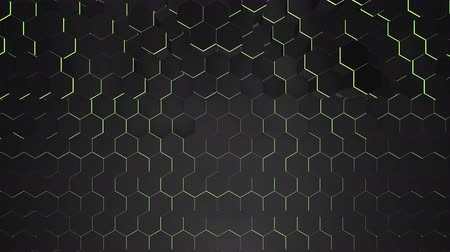 quebra cabeças : Motion dark black hex grid background, abstract background. Elegant and luxury dynamic style for business and corporate template