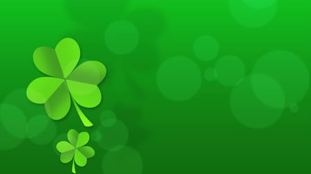 jetel : Motion green shamrocks, Saint Patricks Day animation background. Luxury and elegant dynamic style template for holiday Dostupné videozáznamy