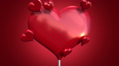 kaligrafia : Animation closeup motion romantic hearts on Valentine day shiny background. Luxury and elegant dynamic style template for holiday