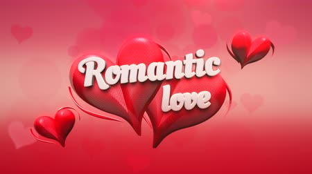 kaligrafia : Animated closeup Romantic Love text and motion romantic heart on Valentine day shiny background. Luxury and elegant dynamic style template for holiday