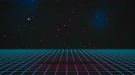 непрерывный : Motion retro blue lines in space, abstract background. Elegant and luxury dynamic 80s, 90s style template