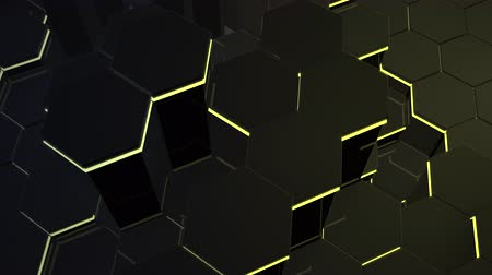 Motion dark black hex grid background, abstract background. Elegant and luxury dynamic style for business and corporate template