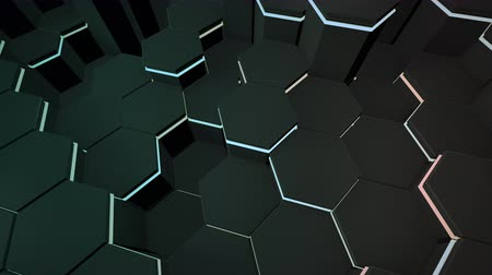 puzle : Motion dark black hex grid background, abstract background. Elegant and luxury dynamic style for business and corporate template