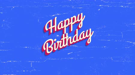Animated closeup Happy Birthday text on  holiday background. Luxury and elegant dynamic style template for holiday card