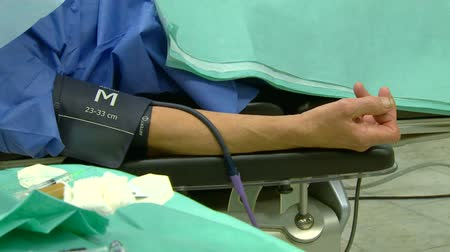 the patient on the gurney before surgery Stock Footage