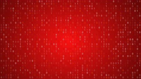 code : Red binary code Stock Footage