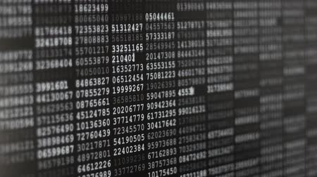 dobrador : Binary Code Screen Stock Footage
