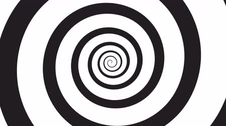 deli : hypnosis visualisation spiral Stok Video