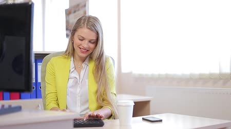 business lady in the office Stock Footage