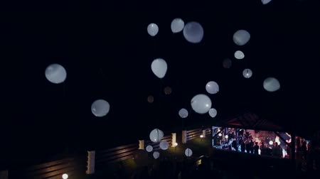 yeepeng : launch balloons in the night hd Stock Footage