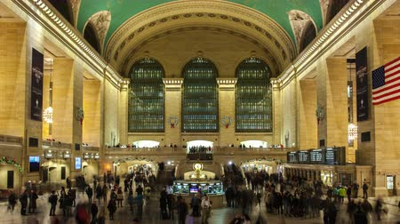 Time lapse long exposure shot of Grand Central Terminal station interior in Manhattan, New York, USA