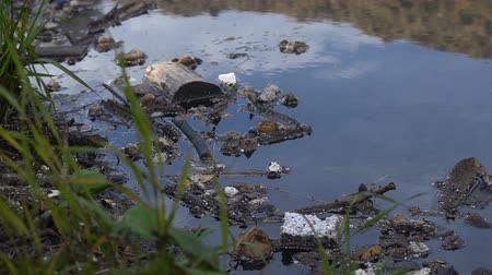 feiúra : A large amount of trash polluting our waters