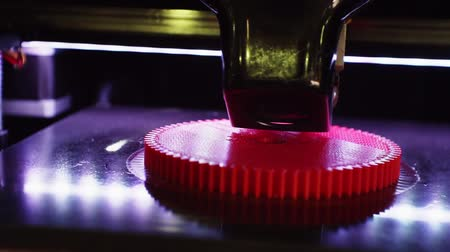 filaman : 3D printer working close up. Stok Video