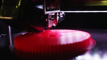 automático : 3D printer working close up. Vídeos