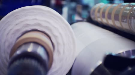 extrusion : Part of automatic plastic bag making machine.