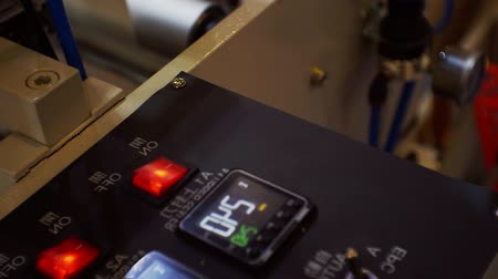 tokarka : CNC Machine milling part control panel manufacturing.close-up. Wideo