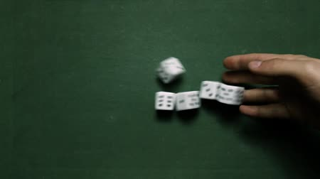 Poker Dice rolling two pairs on five and six Wideo