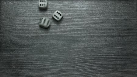 one by one : Poker Dice rolling three sixes
