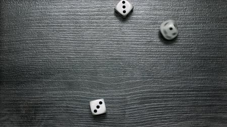 Poker Dice rolling three-of-a-kind