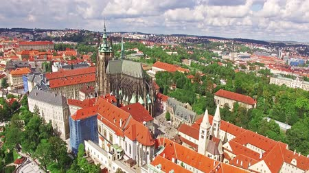 mala : Area Lesser Town of Prague, near the church Saint Vitus, Ventseslaus and Adalbert. Czech Republic.