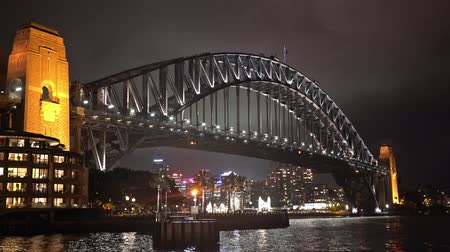 ferry terminal : Sydney harbor bridge at night