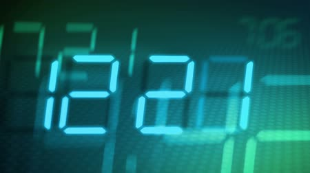 zegar : accelerated digital clock (from 8am to 8pm)