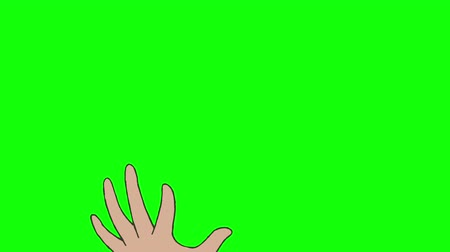 desenhada à mão : Touch screen gestures, hand drawn (green screen)