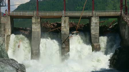 baraj : View of Chemal dam, Altai Republic, Russia.