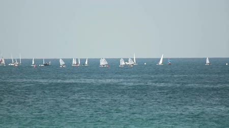 żaglowiec : Sailors competitions near Phuket island, Thailand Wideo
