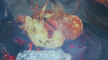 grillowanie : Grilled fried lobsters