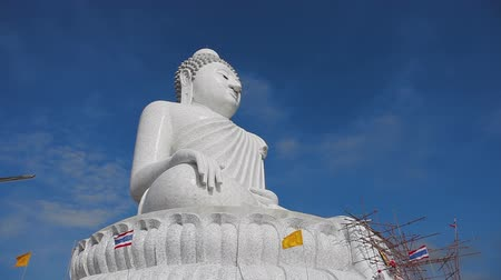 budha : Big Buddha monument Stock Footage