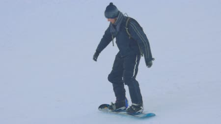 rampant : Snowboarding in the winter park