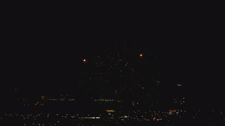 urychlit : Fireworks flashing in the evening