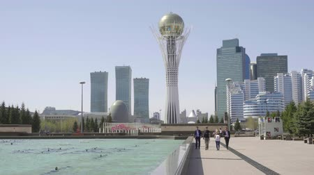 astana : Center of new Astana Stock Footage