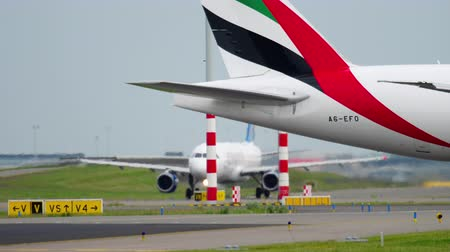 freighter : Emirates SkyCargo 777 taxiing before take-off