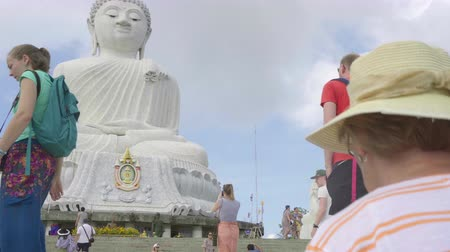 mermer : Big Buddha monument Stok Video