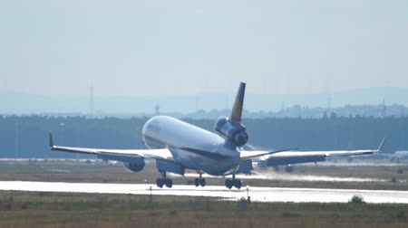 md : Lufthansa Cargo MD-11 landing Stock Footage