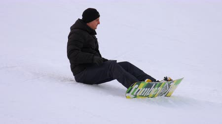 rampant : Snowboarding in the winter resort