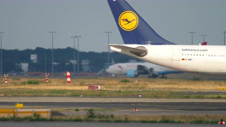 lufthansa : Airbus A330 taxiing before departure Stock Footage