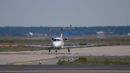 fraport : Private Jet on the executive Stock Footage