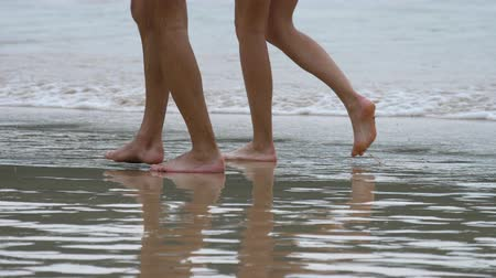 caminhada : Couple beach walking