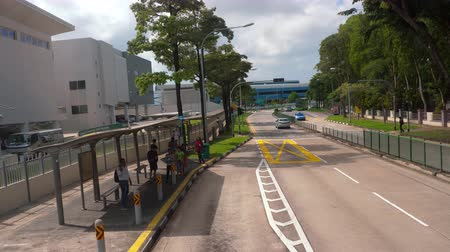 autobus : Singapore weg van bus Stockvideo