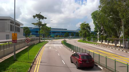 szingapúr : Singapore road from bus