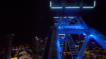 giant wheel : Cityscape view from Singapore Flyer Stock Footage