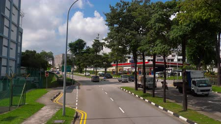 autobus : Singapore road from bus