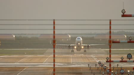 dusseldorf : Jet airplane departure Stock Footage