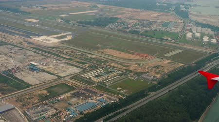 szingapúr : Aerial view Singapore Changi airport