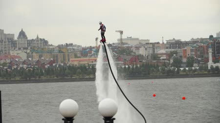 water show : Performing aerobatic at flyboard