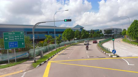 транзит : Singapore road from bus